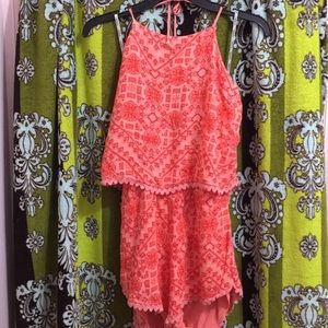 GUESS Orange Romper